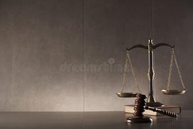 Fundo do conceito da lei e da justiça imagem de stock
