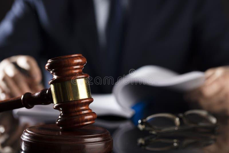 Fundo do conceito da lei e da justiça foto de stock