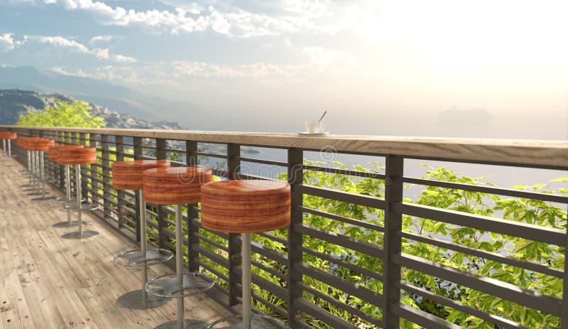 Fundo do conceito das férias das opiniões e dos assentos do mar ilustração royalty free