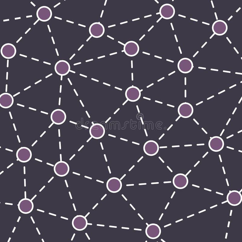 Fundo do conceito das redes ilustração royalty free