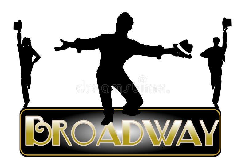 Fundo do conceito de Broadway ilustração do vetor
