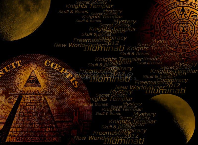 Fundo do conceito de Illuminati ilustração royalty free