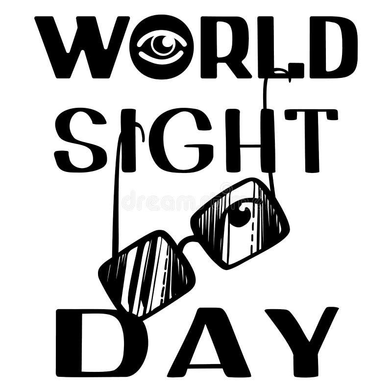 Fundo do conceito do dia da vista do mundo, estilo simples ilustração do vetor