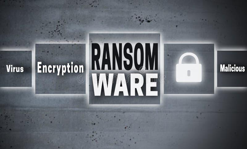 Fundo do conceito do écran sensível de Ransomware ilustração do vetor