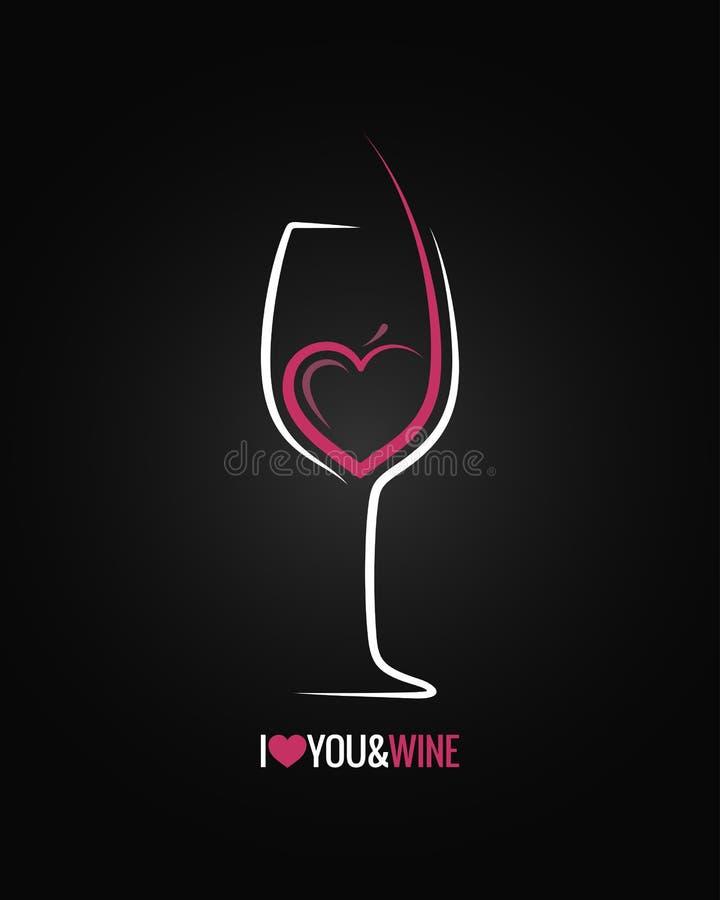 Fundo do conceito do vidro de vinho ilustração royalty free