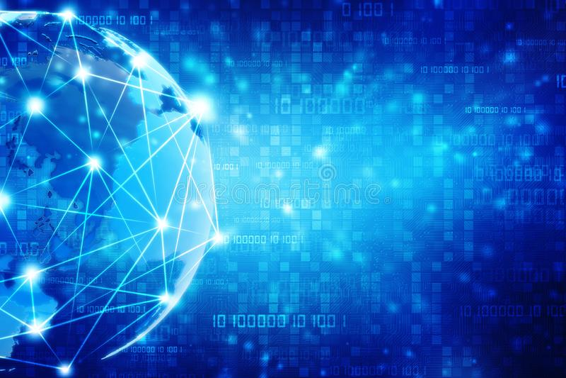 Fundo do conceito do Internet, fundo do Cyber ilustração do vetor