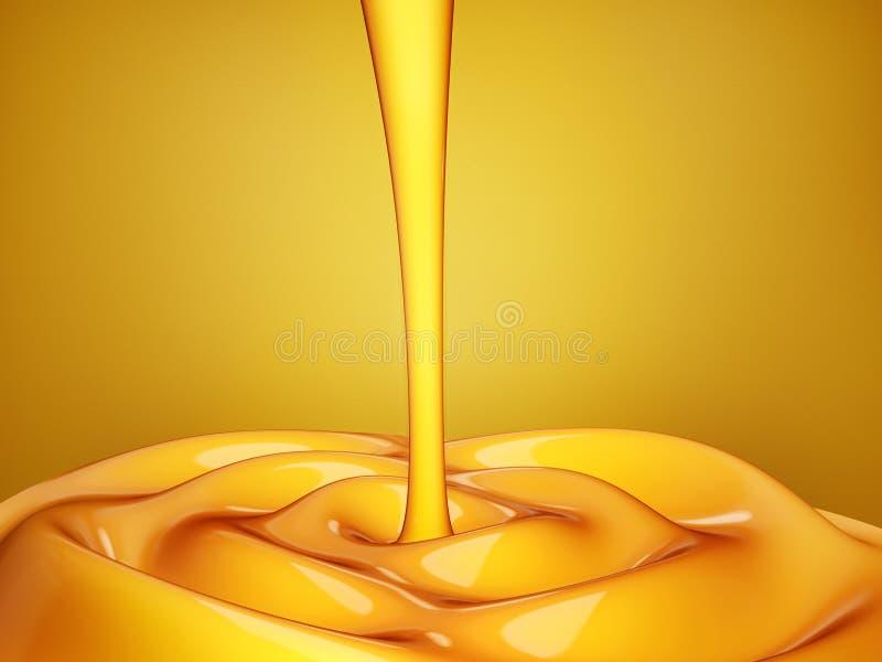 Fundo do conceito do mel da onda ilustração do vetor