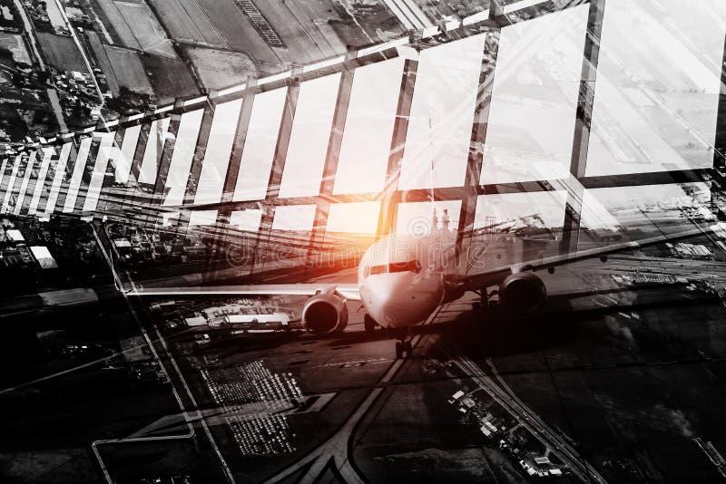 Fundo do conceito do negócio do transporte fotografia de stock