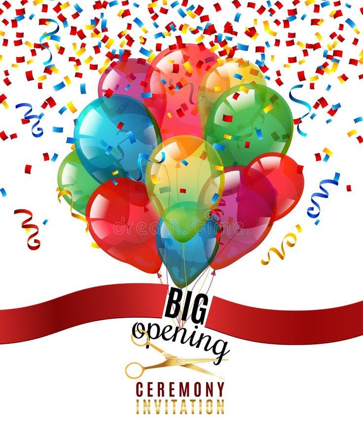 Fundo do convite da cerimônia de inauguração ilustração royalty free