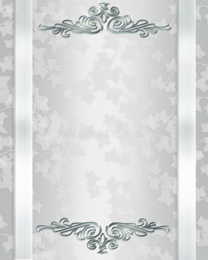 Fundo do convite do casamento elegante ilustração royalty free