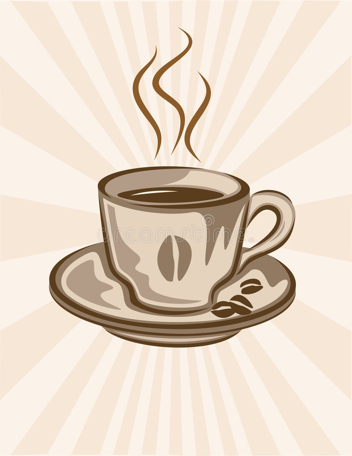 Fundo do copo de café ilustração royalty free
