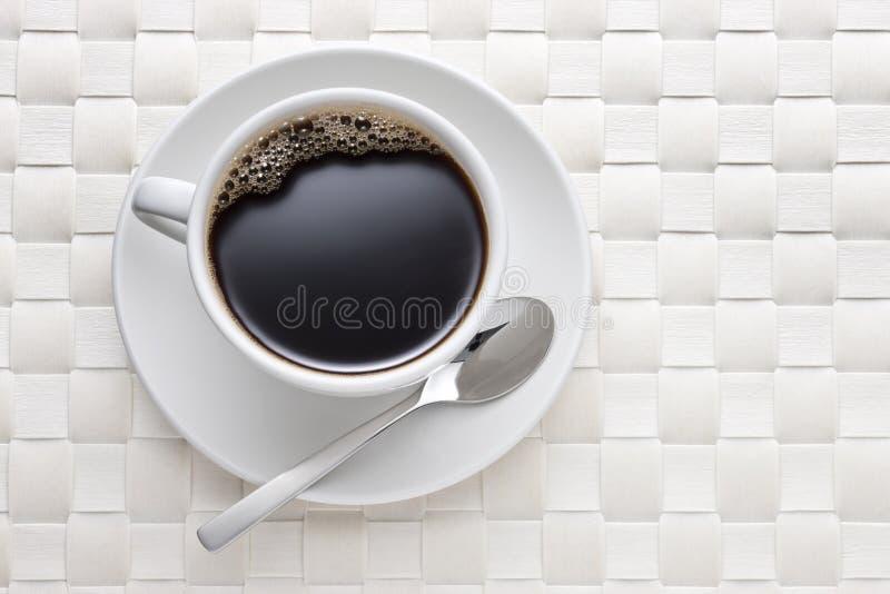 Fundo do copo de café branco fotos de stock royalty free