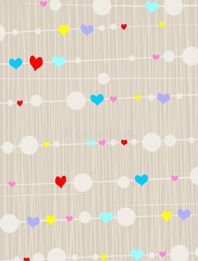 Fundo do coração ilustração do vetor
