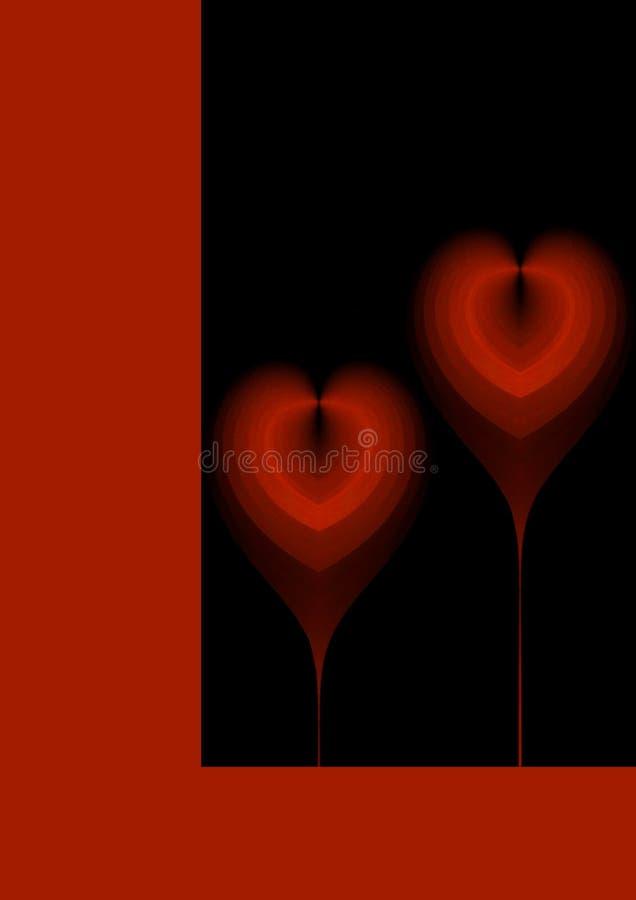 Fundo do coração ilustração royalty free