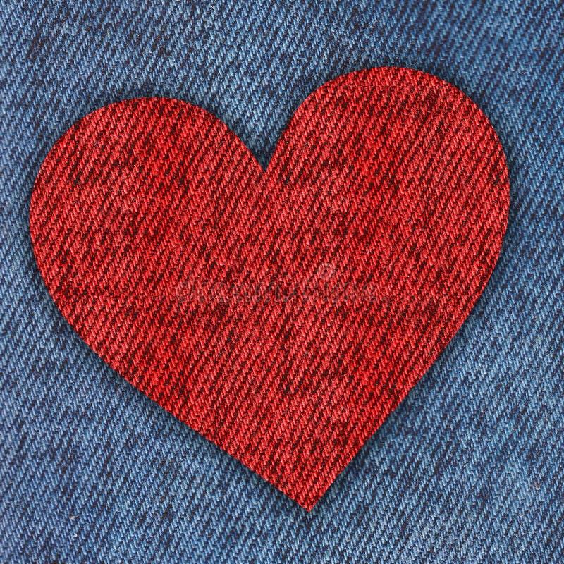 fundo do coração das calças de brim ilustração royalty free