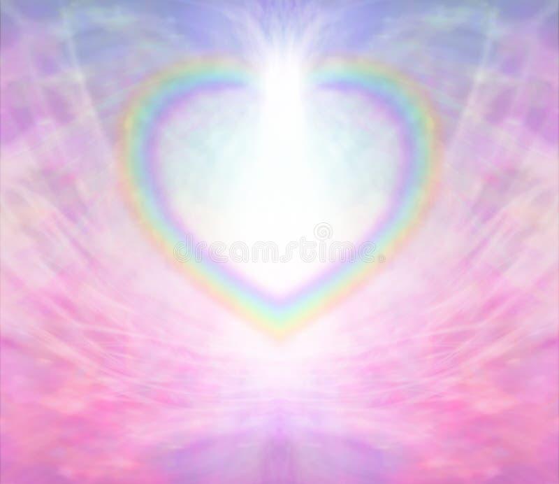 Fundo do coração do arco-íris ilustração stock