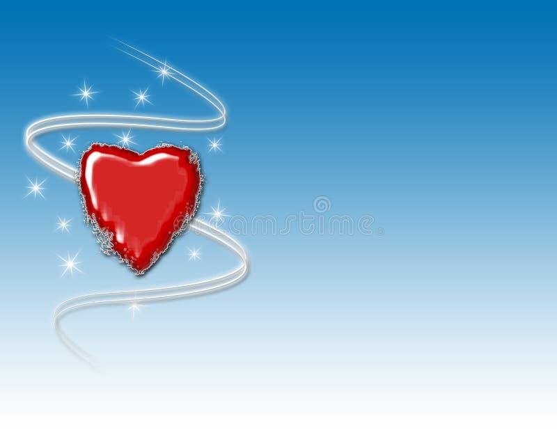 Fundo do coração do inverno ilustração royalty free