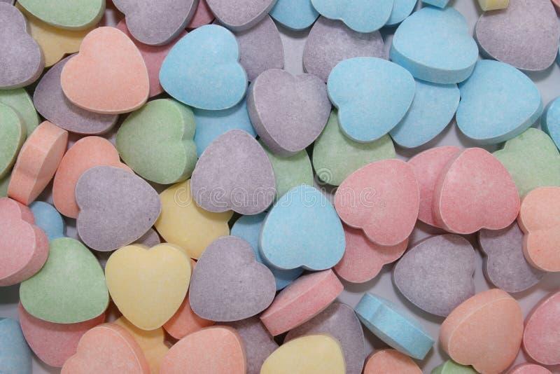 Fundo do coração dos doces (imagem 8.2mp) foto de stock
