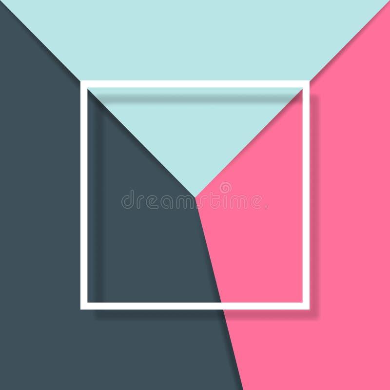 Fundo do corte do papel com quadro do quadrado branco ilustração royalty free