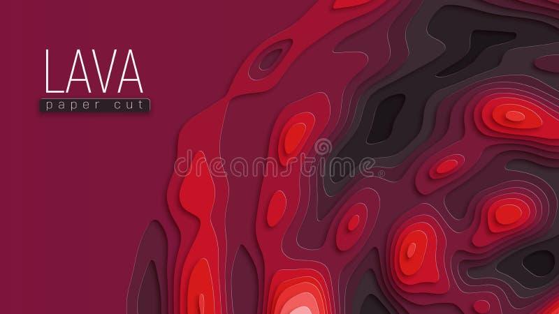 Fundo do corte do papel da lava ilustração royalty free
