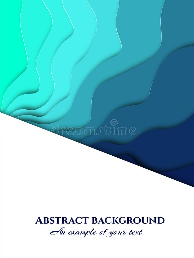 Fundo do corte do papel Decoração de papel realística do sumário para o projeto textured 3d Cinzelando a arte Vetor Disposição da ilustração royalty free