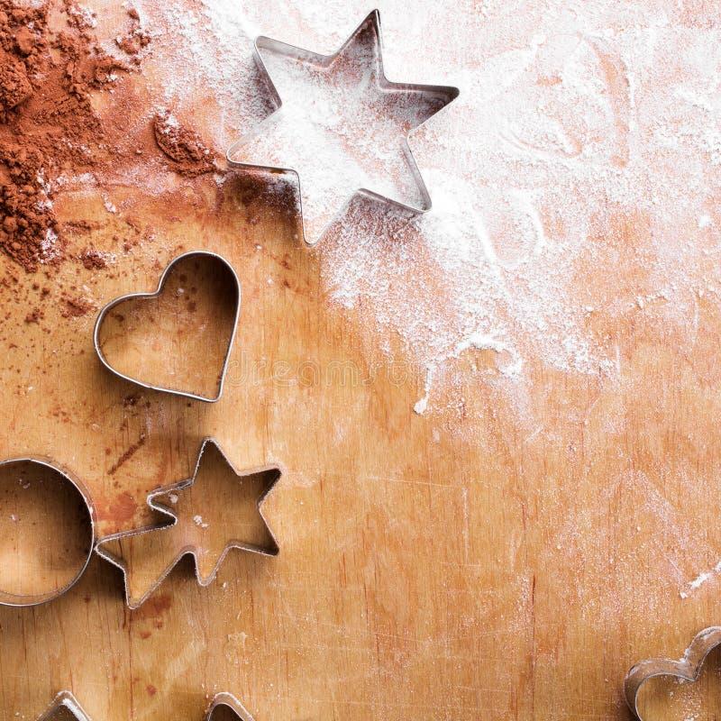 Fundo do cozimento: preparando cookies fotografia de stock royalty free