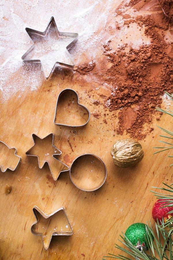 Fundo do cozimento: preparando cookies imagem de stock