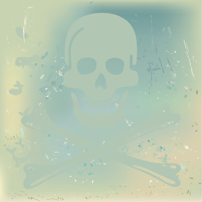 Fundo do crânio ilustração do vetor