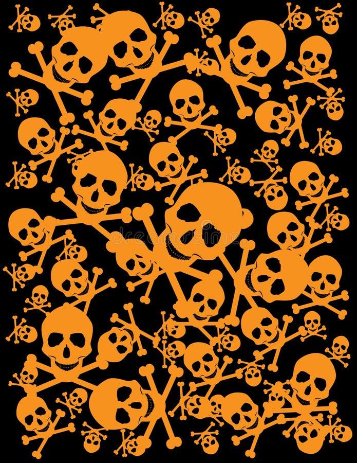 Fundo do crânio ilustração royalty free