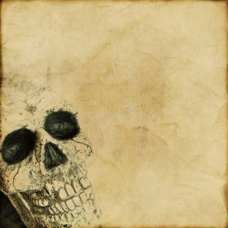 Fundo do crânio de Grunge fotos de stock