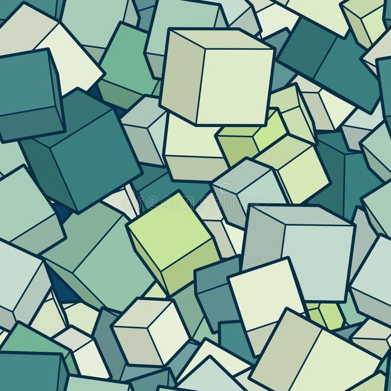 Fundo do cubo do vetor ilustração stock