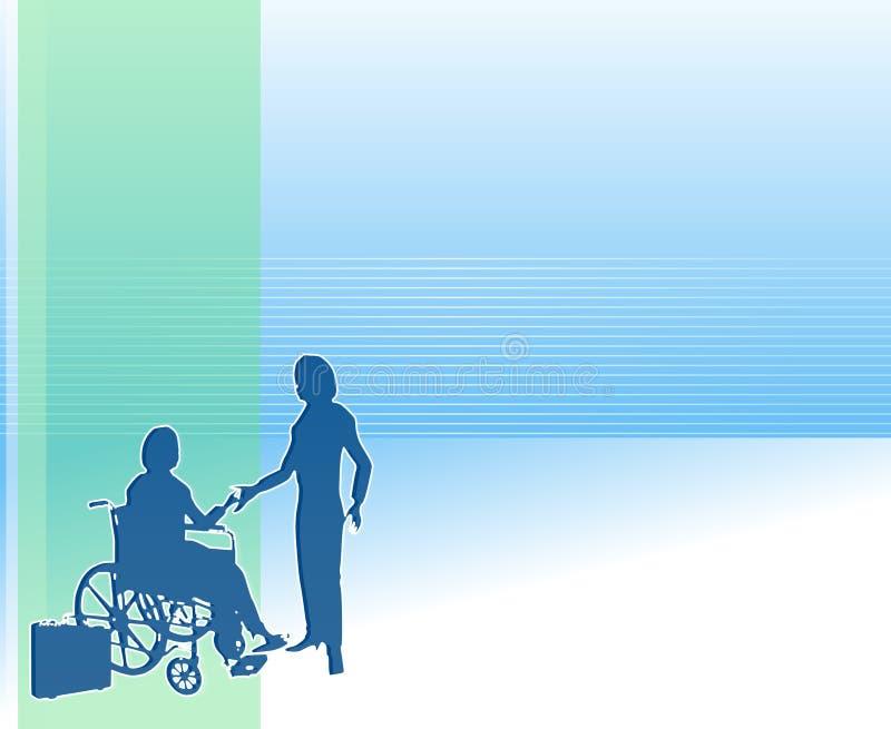 Fundo do cuidado dos cuidados médicos Home ilustração do vetor