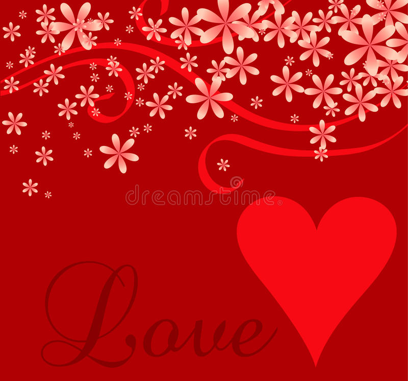 Fundo do Cursive do coração do amor ilustração royalty free