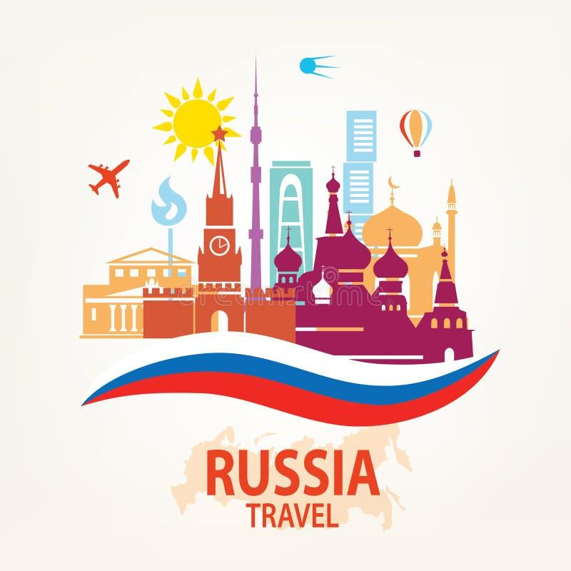 Fundo do curso de Rússia ilustração royalty free