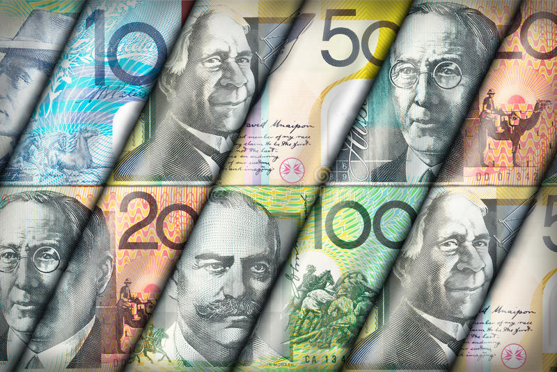 Fundo do dólar australiano fotografia de stock royalty free