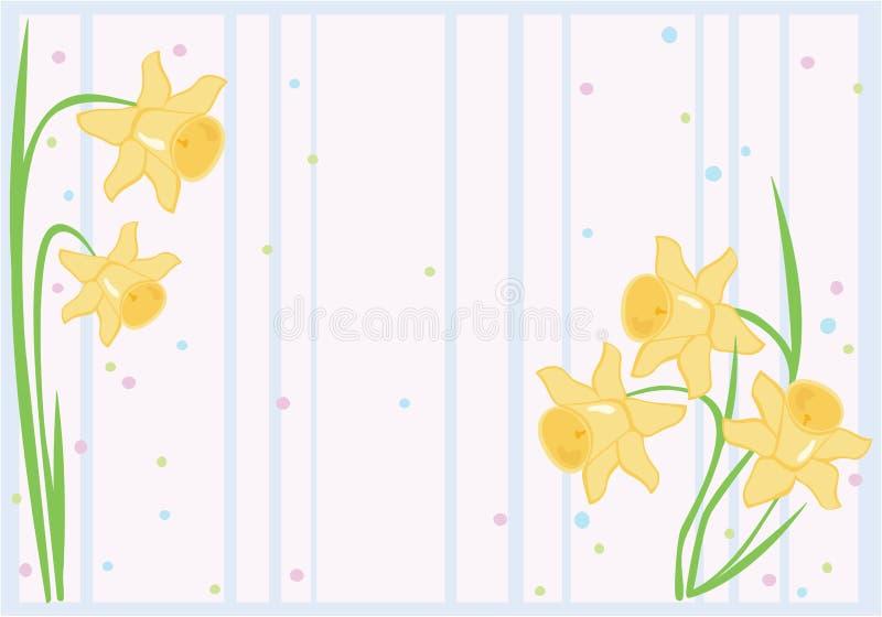 Fundo do Daffodil ilustração stock
