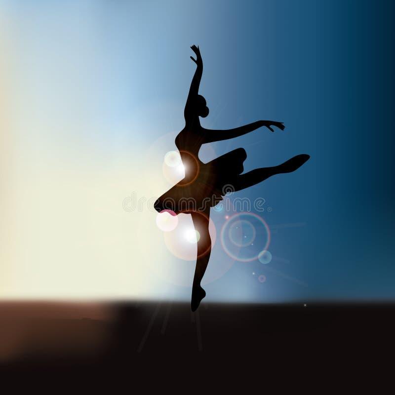 Fundo do dançarino de bailado com vetor do espaço EPS10 da cópia ilustração royalty free