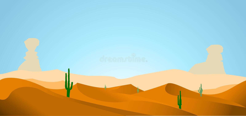 Fundo do deserto ilustração stock