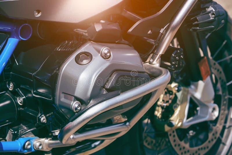 Fundo do detalhe do close-up do motor da motocicleta imagem de stock royalty free