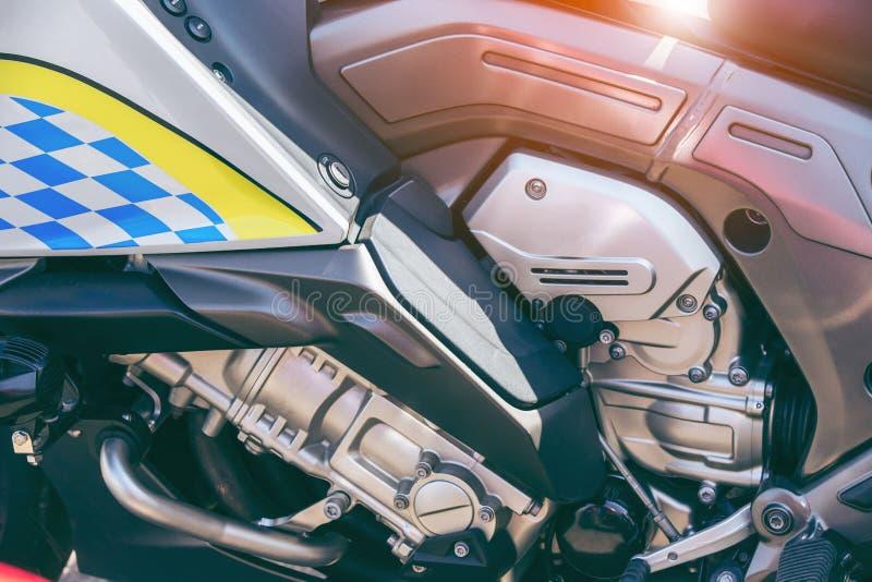 Fundo do detalhe do close-up do motor da motocicleta fotos de stock royalty free
