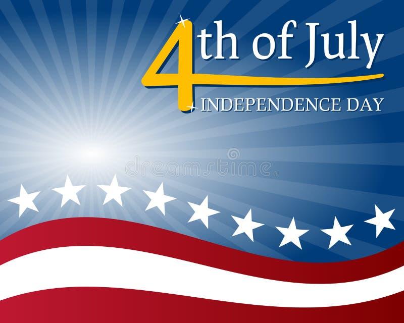 Fundo do Dia da Independência ilustração royalty free
