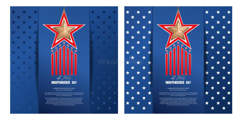 Fundo do Dia da Independ?ncia Quarto do projeto de julho ilustração do vetor