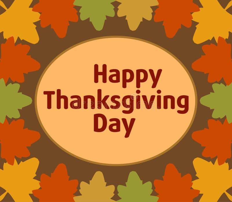 Fundo do dia de Autumn Thanksgiving ilustração stock