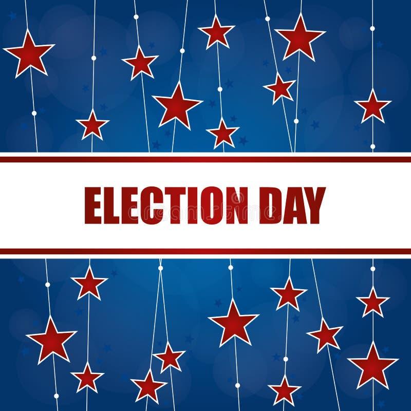 Fundo do dia de eleição ilustração royalty free