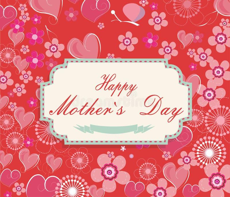 Fundo do dia de mães ilustração stock