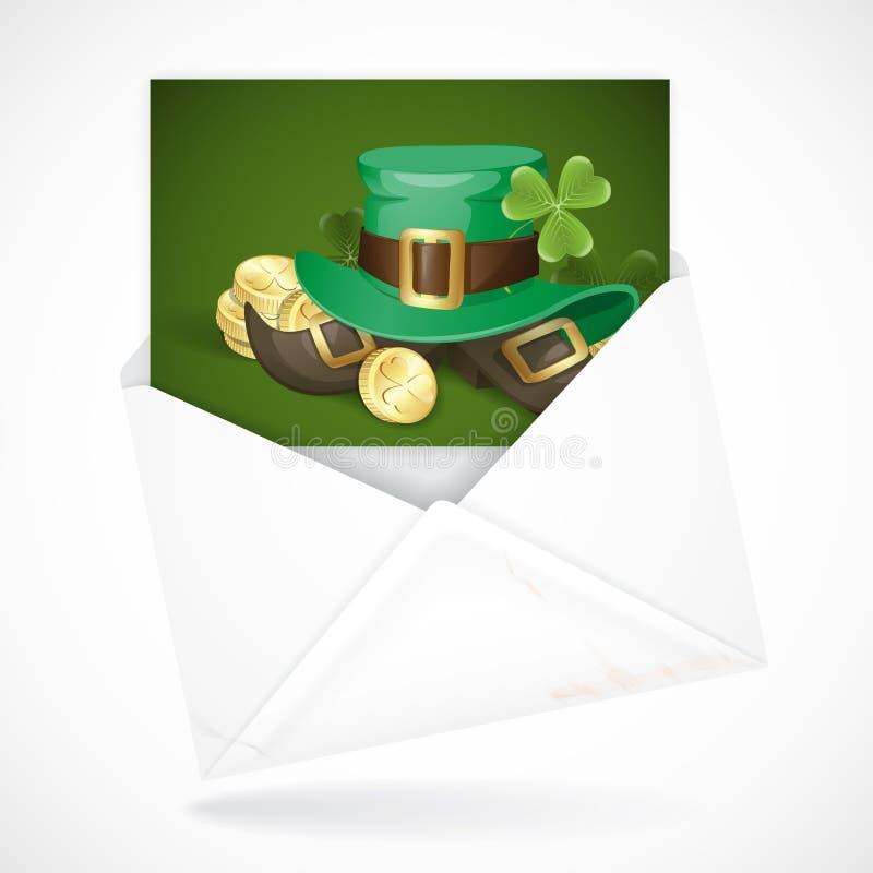 Fundo do dia de St Patrick ilustração royalty free
