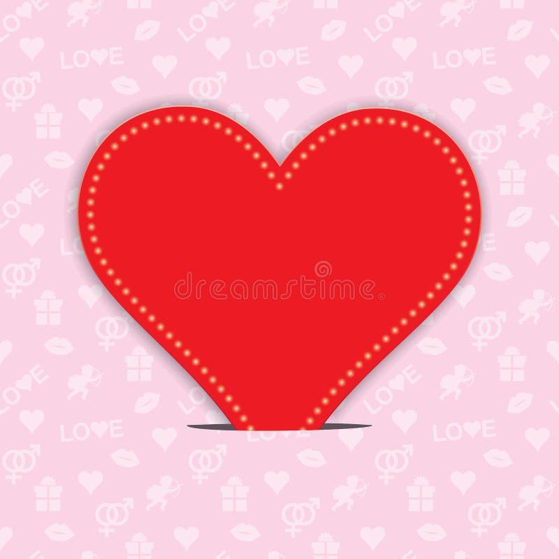 Fundo do dia de Valentim ilustração stock