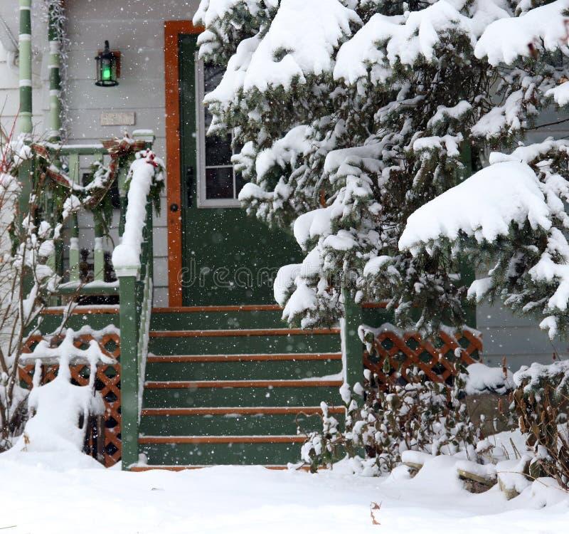 Fundo do dia do blizzard fotografia de stock