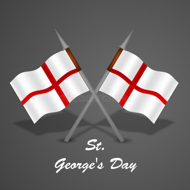 Fundo do dia do ` s de St George ilustração do vetor