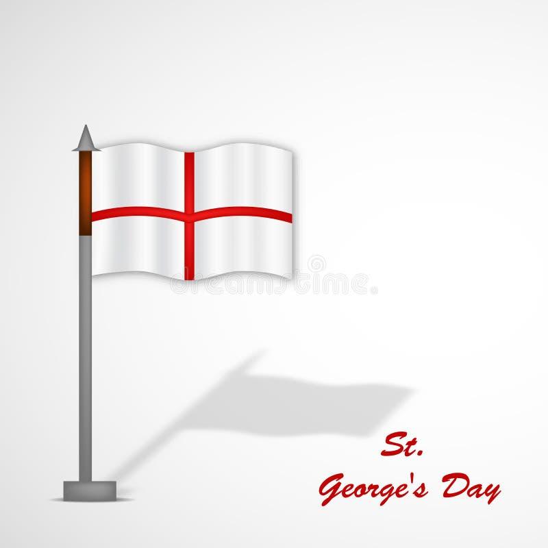 Fundo do dia do ` s de St George ilustração stock